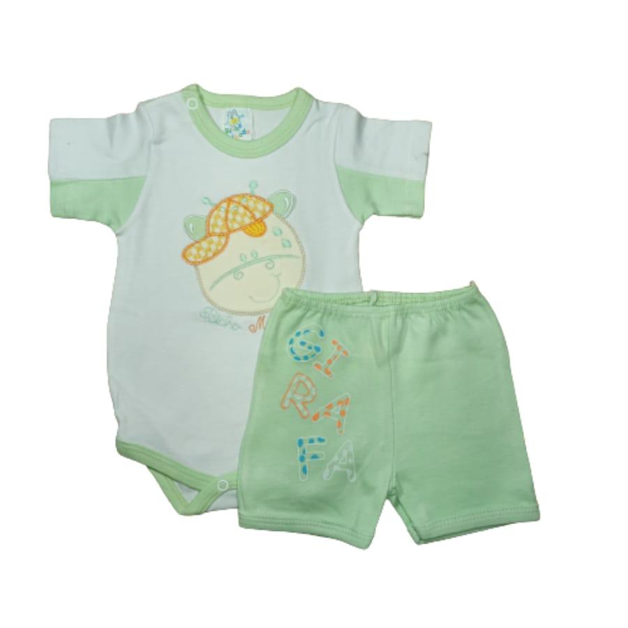 Conjunto para Bebê Body e Short Girafa