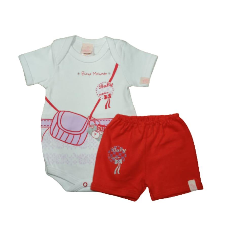 Conjunto para Bebê de Body e Short Baby Wear