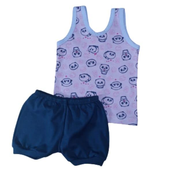 Conjunto para Bebê Regata e Shorts 100% Algodão