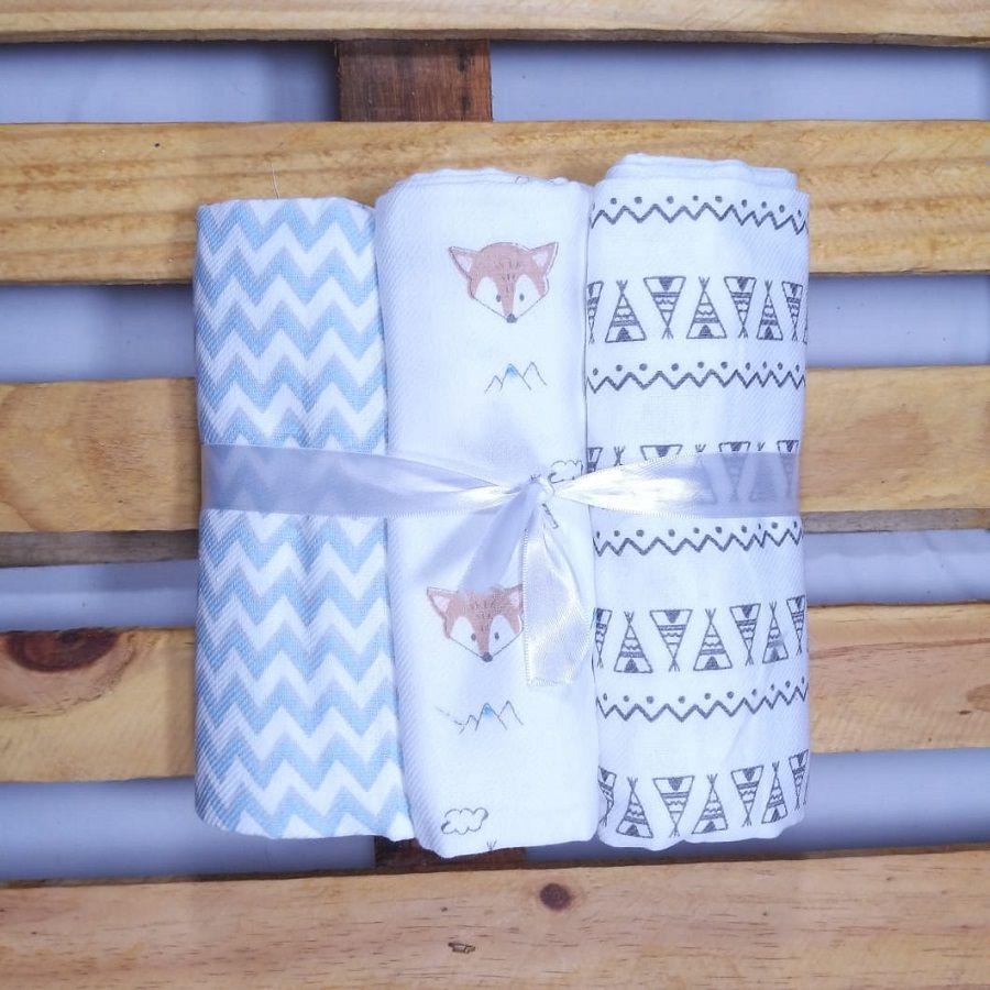 Cueiro para Bebê  Flanelado  100% algodão