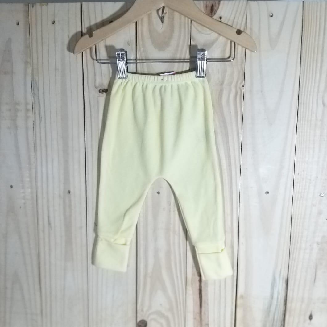 Culote para Bebê 80% Algodão Canelado Amarelo