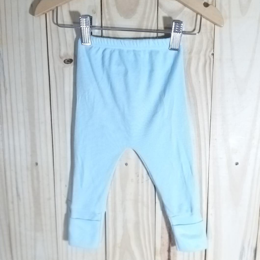 Culote para Bebê 80% Algodão  Canelado Azul