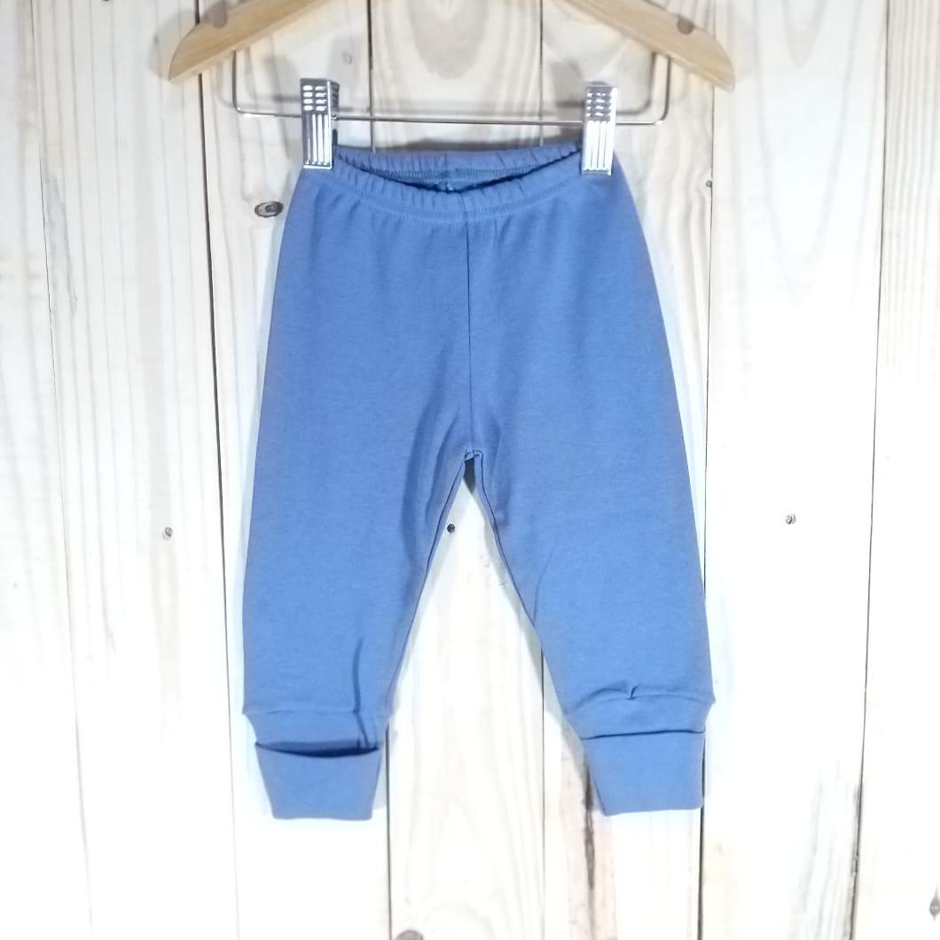 Culote Para Bebê com Pé Reversível Jeans