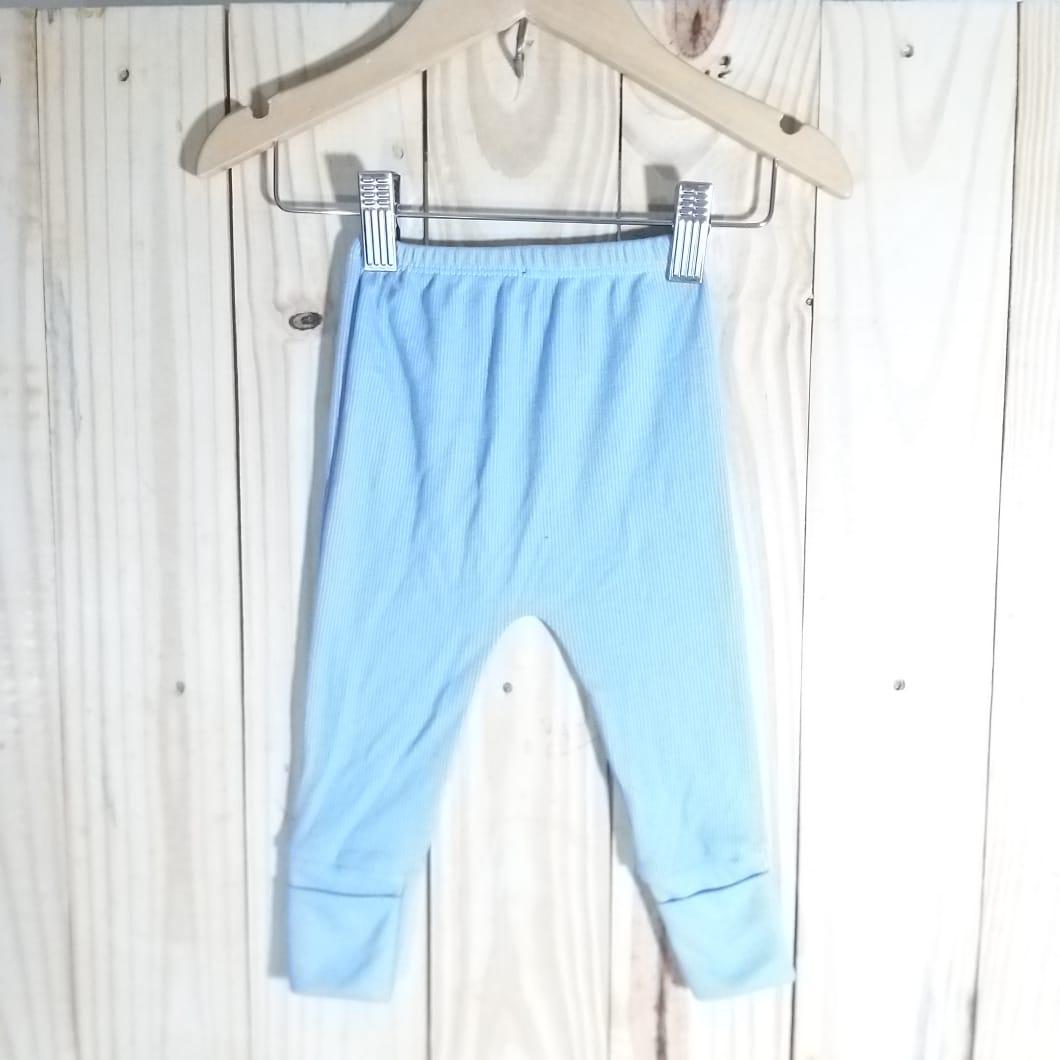 Culote para Bebê em Malha 100% Algodão Azul