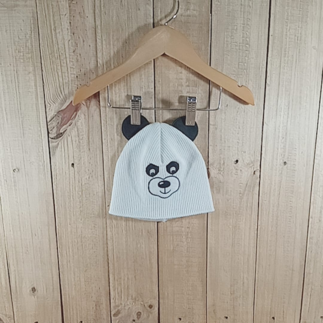 Gorro Panda Unissex Branco