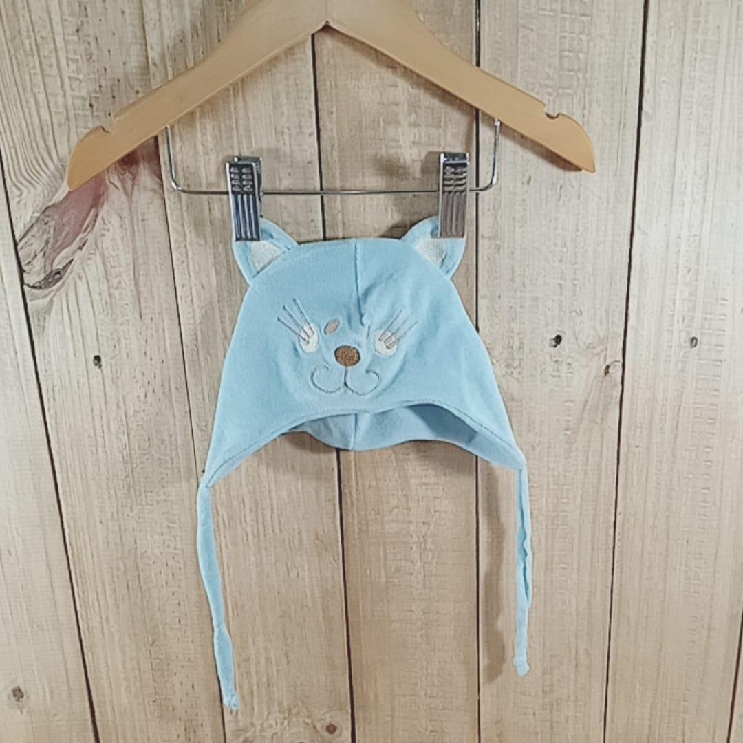 Gorro para Bebê  Plush Gatinho Azul