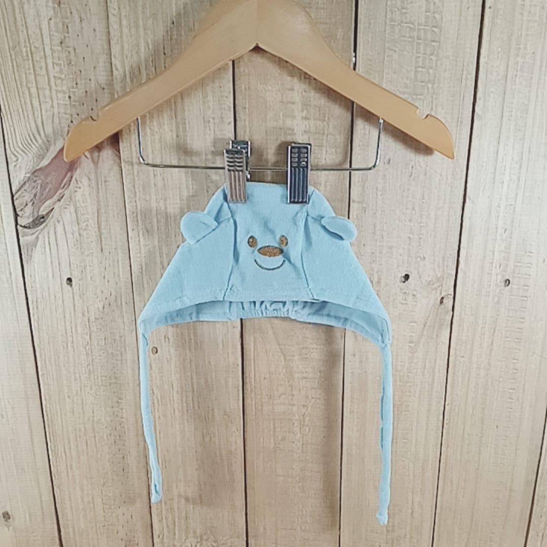 Gorro para Bebê  Plush Ursinho  Azul