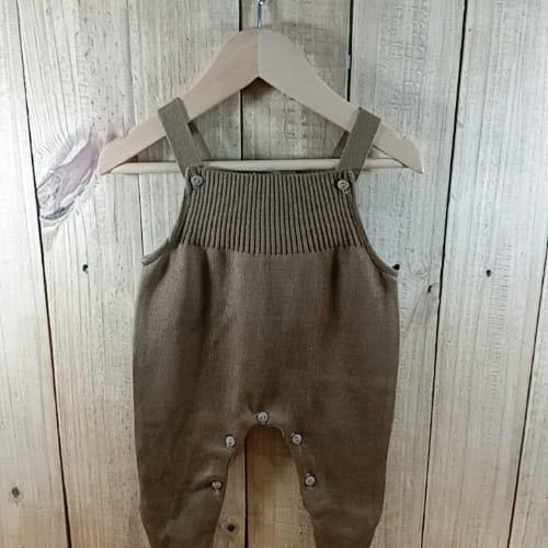Jardineira em Tricot para Bebê Toreiro Marron