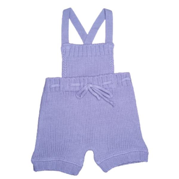 Jardineira para Bebê em Tricot Body Diaper Lilás