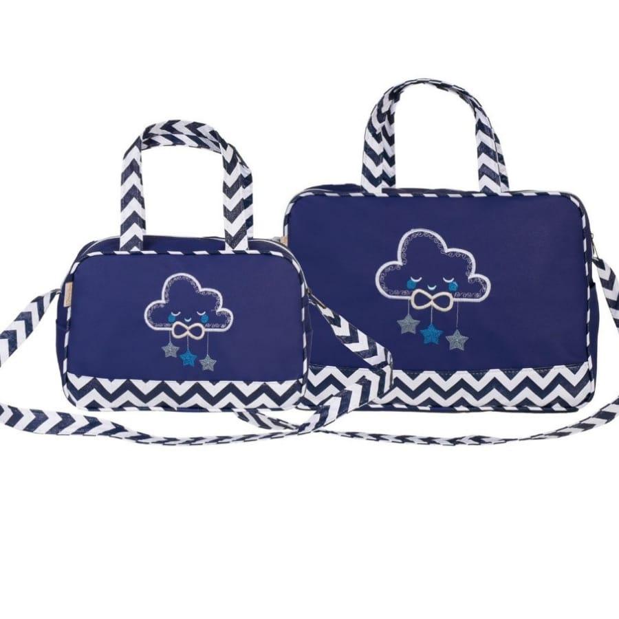Kit Bolsa para Bebê com Bordado Nuvens