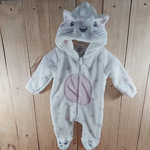 Macacão com Capuz  para Bebê Gatinha