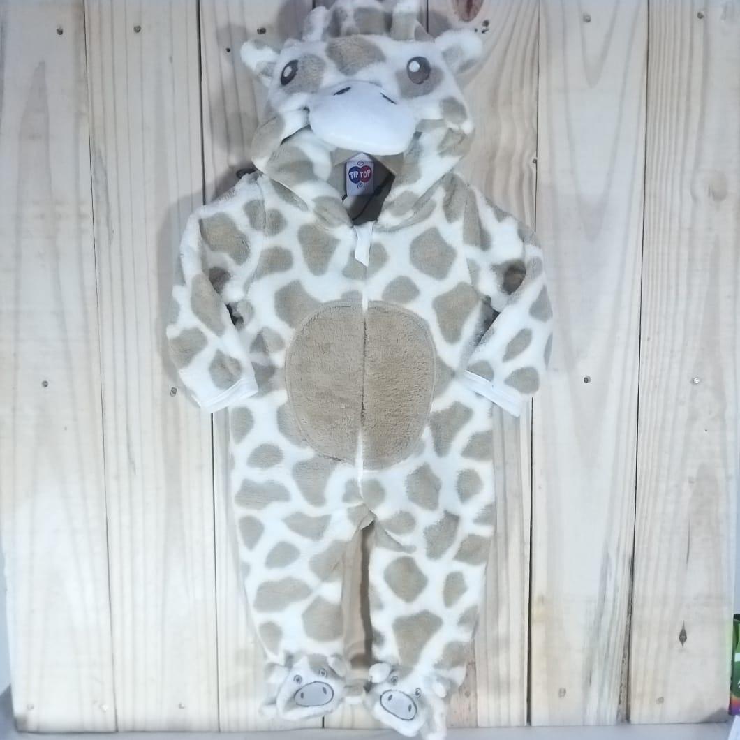 Macacão com Capuz  para Bebê Plush Girafa