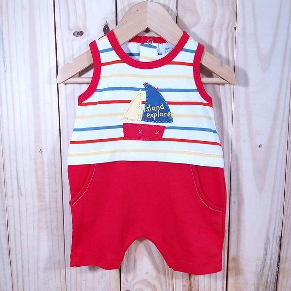 Macacão para Bebê Curto Veleiro Vermelho