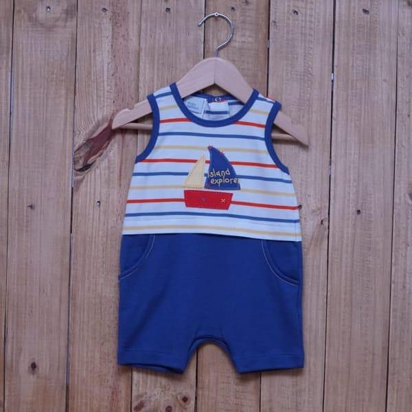 Macacão para Bebê Curto Veleiro Blue Jeans