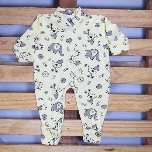 Macacão em Malha estampado para Bebê Unissex