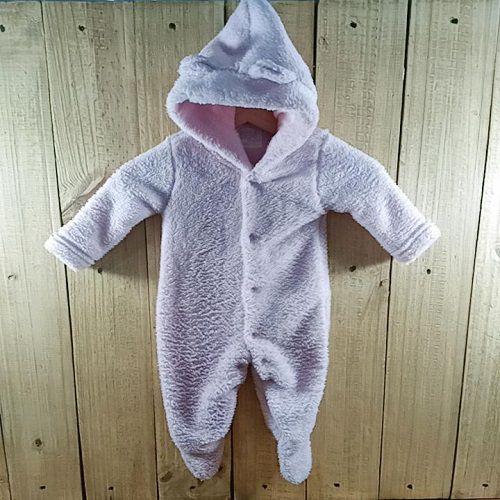 Macacão Fleece para Bebê Com Capuz