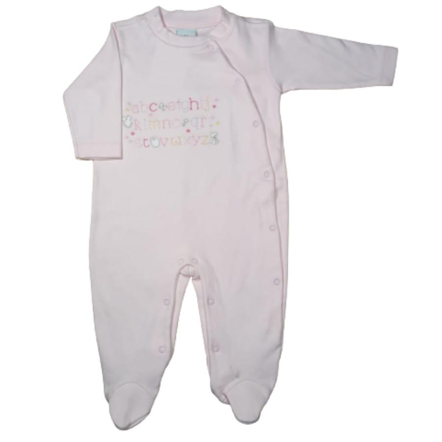Macacão para Bebê Bordado ABC