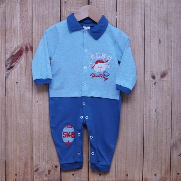 Macacão para Bebê Bordado Blue Jeans