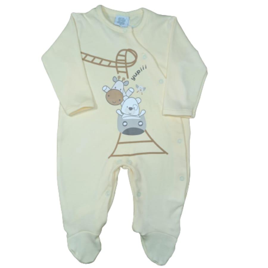 Macacão para Bebê Bordado é Estampado