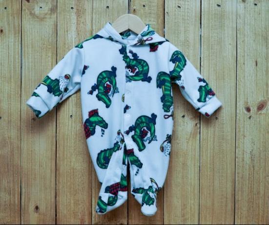 Macacão para Bebê com Capuz estampado Soft  Jacaré verde