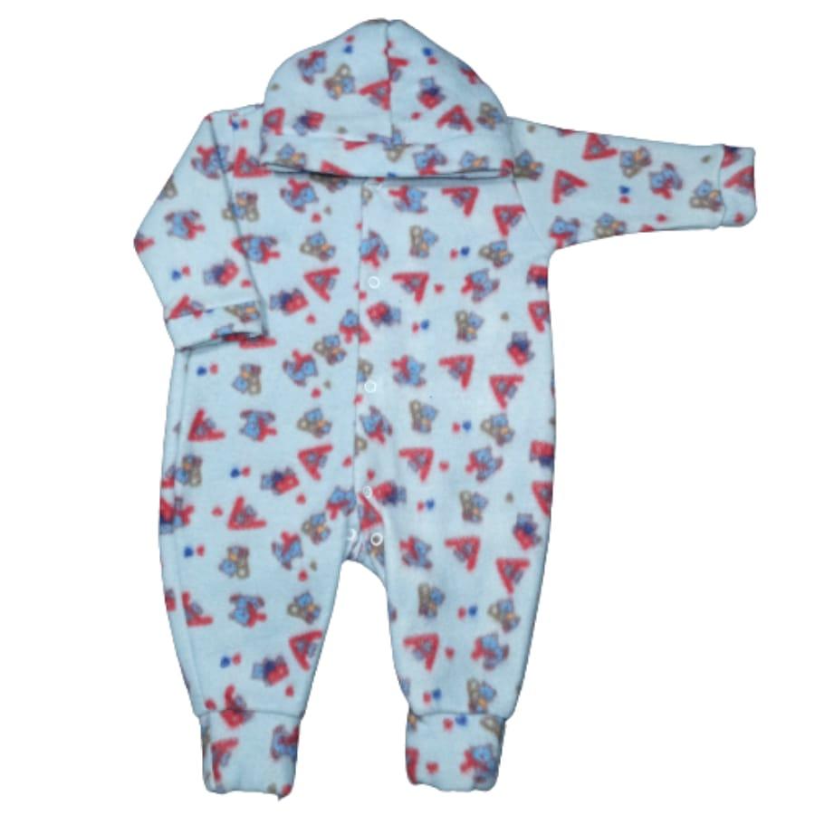 Macacão para Bebê com Capuz Soft Estampado Foguete