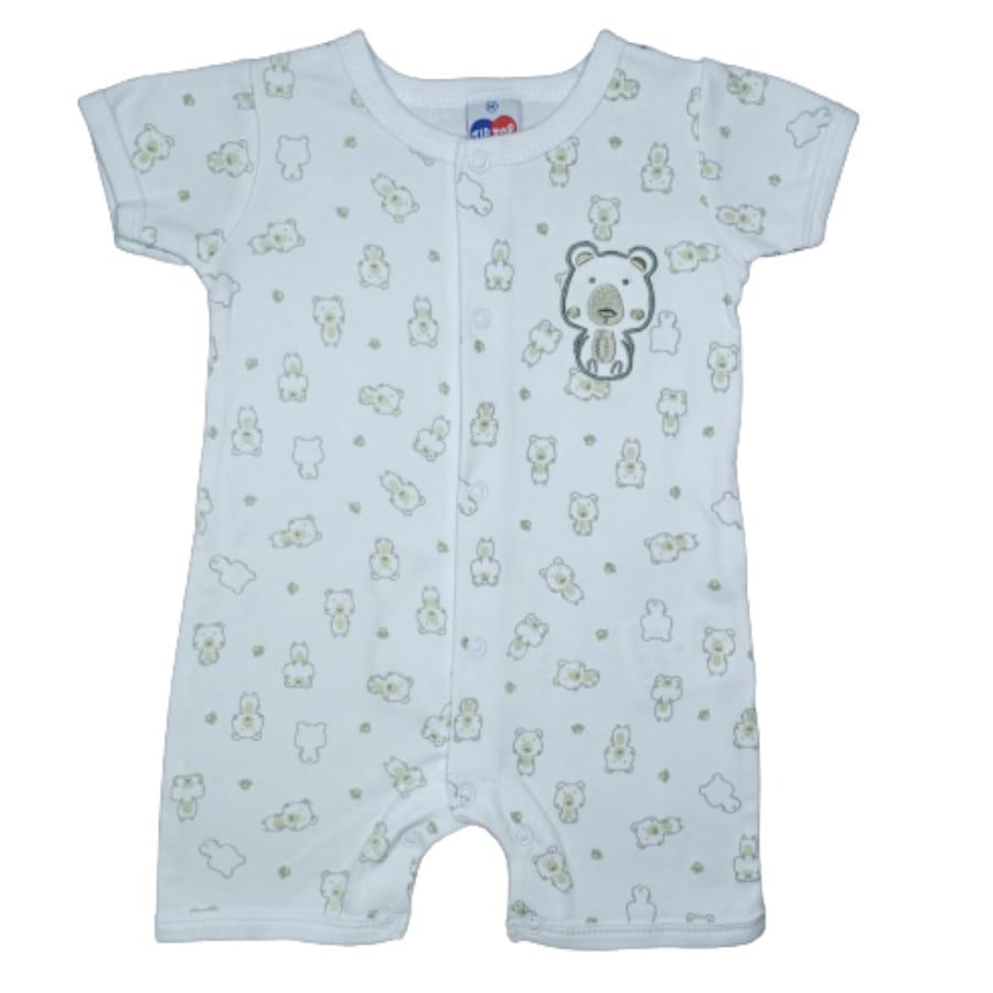 Macacão para Bebê Curto Estampado Tip Top