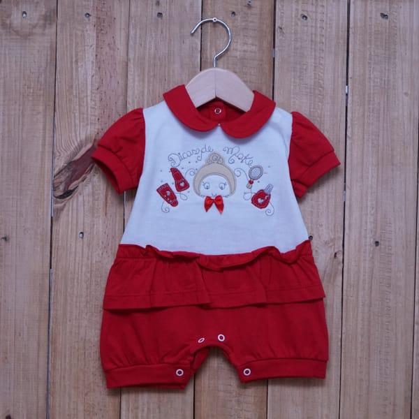 Macacão para Bebê Curto Make Vermelho
