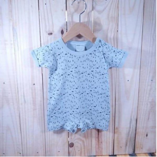 Macacão para Bebê curto Malha Minimalista