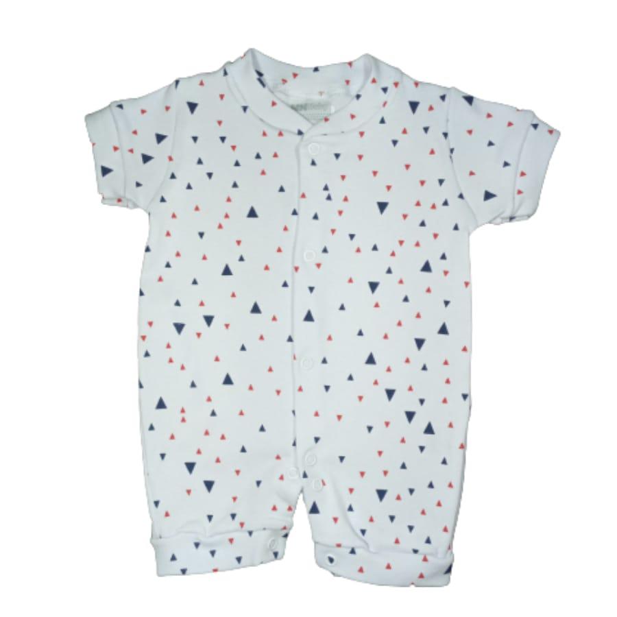 Macacão para Bebê Curto Minimalista Triângulos