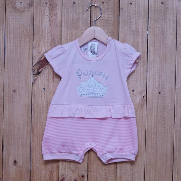 Macacão para Bebê Curto Princess Rosa Claro