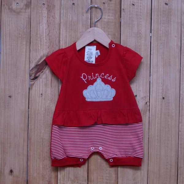 Macacão para Bebê Curto Princess Vermelho
