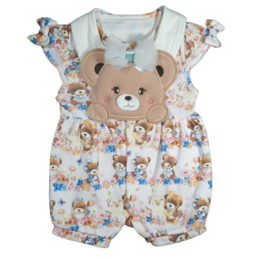 Macacão para Bebê Curto Ursinhas