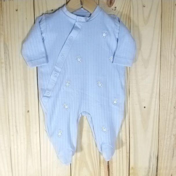 Macacão para Bebê em Malha 100% Algodão Azul