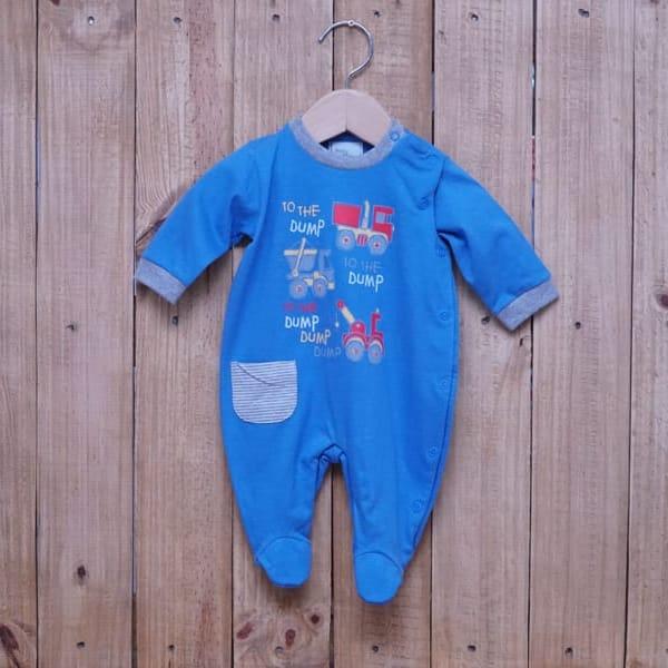 Macacão para Bebê em Malha 100% Algodão Menino Azul Claro