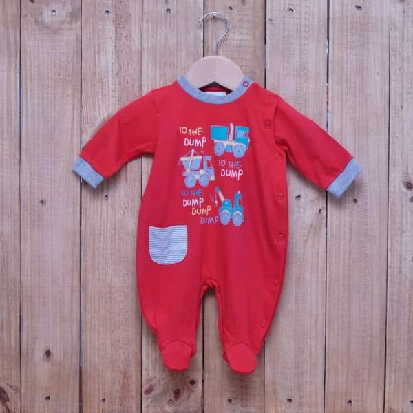 Macacão para Bebê em Malha 100% Algodão Menino Vermelho