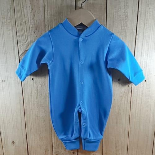 Macacão para Bebê em Malha Liso Azul Bic