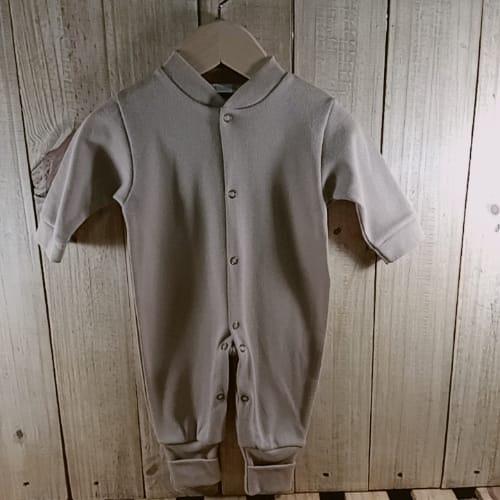 Macacão para Bebê em Malha Liso Caramelo