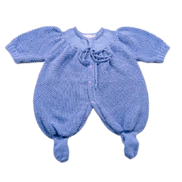 Macacão para Bebê em Tricot Pimpão