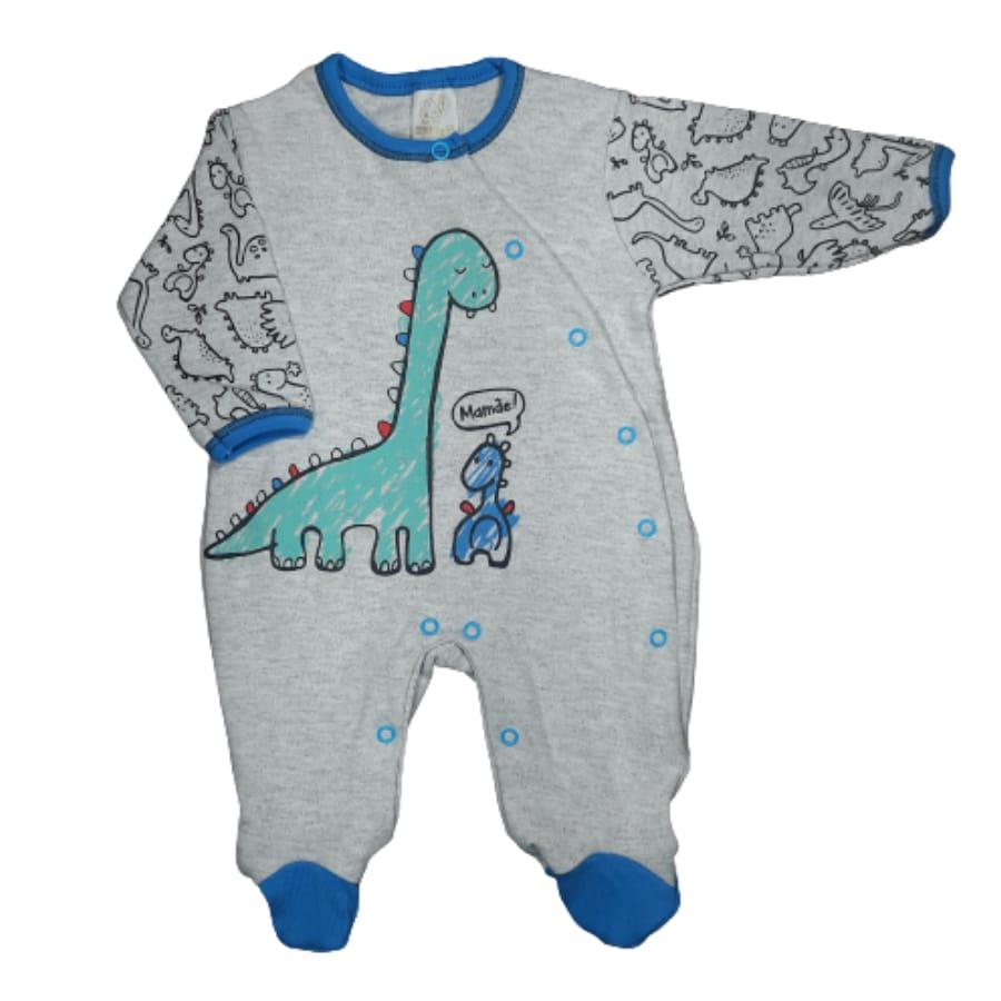 Macacão para Bebê Estampado Dinossauro