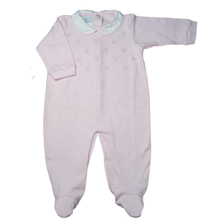 Macacão para Bebê Gola Polo Bordado