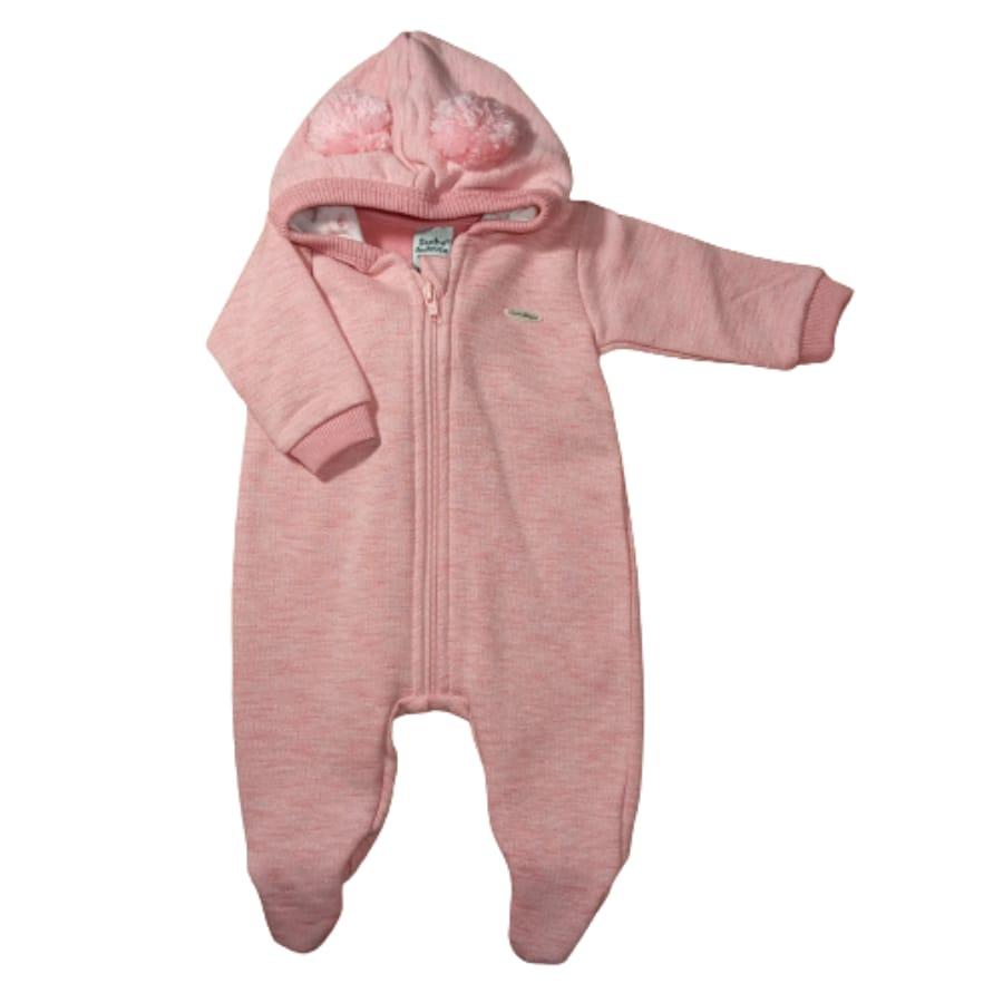 Macacão para Bebê Longo Moletom e Plush