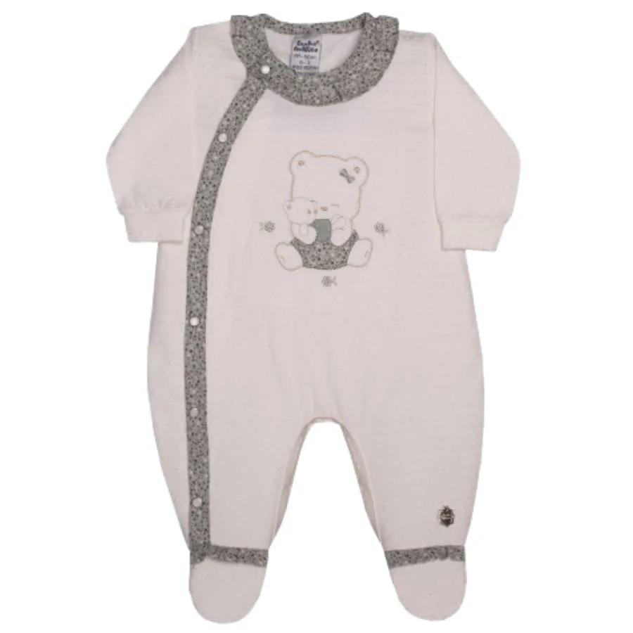 Macacão para Bebê Longo Ursa Malha Sonho Mágico