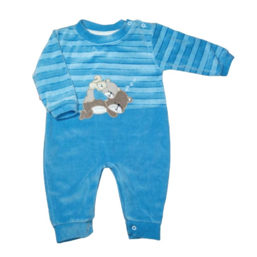 Macacão para Bebê Plush Bordado Soneca