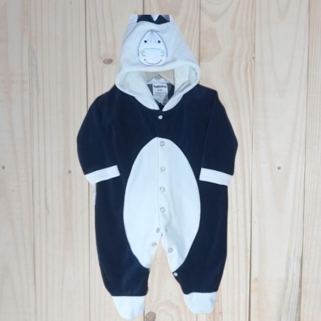 Macacão para Bebê Plush Cavalinho  Marinho