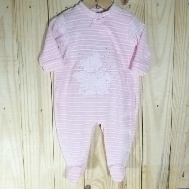 Macacão para Bebê  Plush Menina com strass