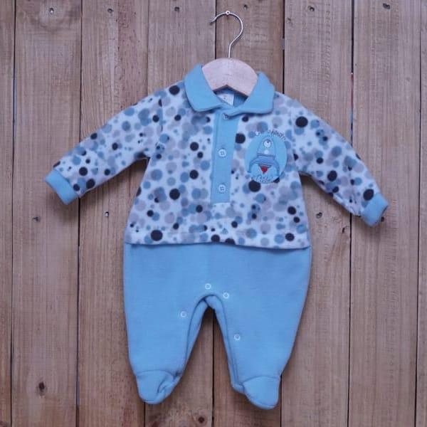 Macacão para Bebê Soft Bordado Azul