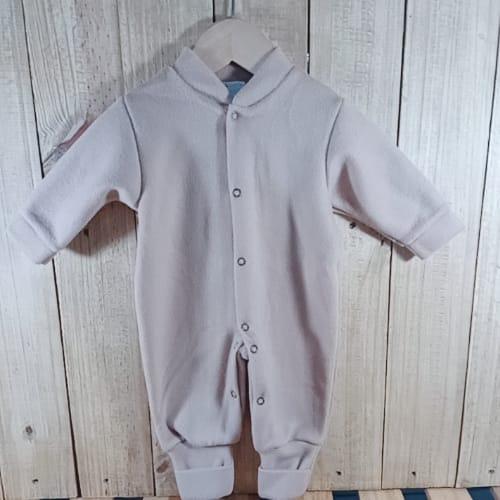 Macacão para Bebê  Soft com Pé Reversível  Bege
