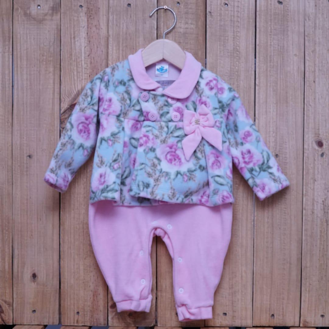 Macacão para Bebê Soft Flores