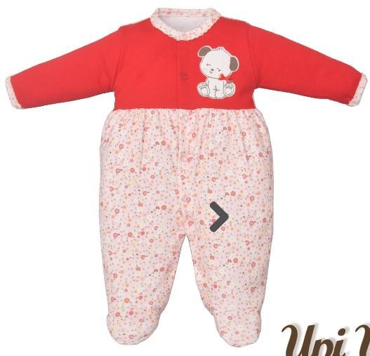 Macacão para bebê Suedine Estampado e Bordado