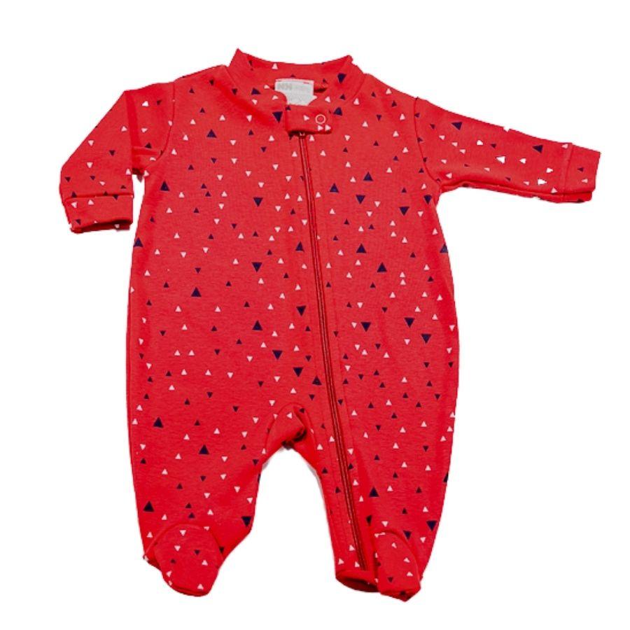 Macacão para Bebê Zíper Minimalista -RN com pé do P ao GG sem pé